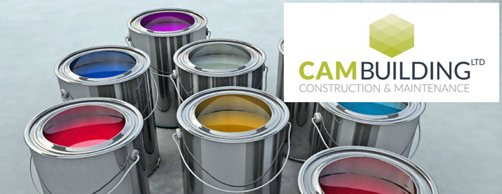 CAM Building Paint tins